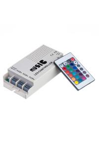 Контроллер музыкальный для светодиодной ленты RGB 9А 108 Вт, (RR 24 кнопки)