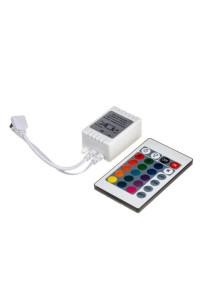 Контроллер для светодиодной ленты RGB 12А 144 Вт, (IR 24 кнопки)
