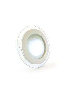 Светодиодный led светильник со стеклом 6Вт круг 4000К IP20