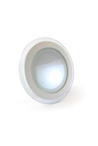 Светодиодный led светильник со стеклом 12Вт круг 4000К IP20