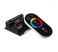 Контроллер для светодиодной ленты RGB 18А 12Вт (RR 6 кнопок) черный
