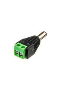 Коннектор для светодиодных лент mini jack 5,5мм (папа)