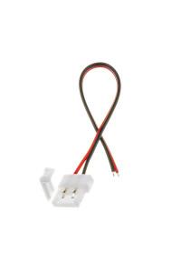 Коннектор для светодиодных лент 10мм (провод+зажим)