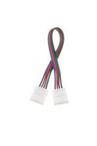 Коннектор для светодиодных лент RGB 10мм (провод+2 зажима)