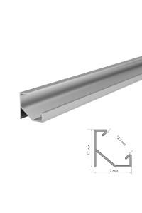 Профиль для светодиодной ленты накладной угловой ПФ-20 2 м