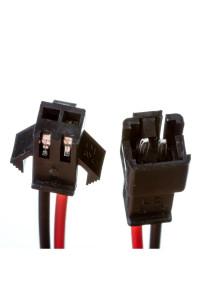 Комплект коннекторов для светодиодных лент папа+мама 2pin черный с зажимом