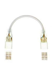 Коннектор к светодиодной ленте 220В smd5050 (2 разъема+2 шт. 4pin)