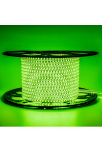 Лед лента 220В зеленая AVT smd 2835 120led/м 4Вт/м IP65, 1м