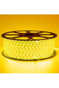 Лед лента 220В желтая smd 2835 120led/м 12Вт/м IP65, 1м