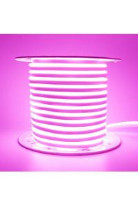 Лед неон 220В розовый AVT smd2835 120led/м 7Вт/м IP65, 1м