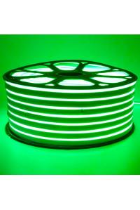 Лед неон 220В зеленый smd2835 120led/м 12Вт/м IP65, 1м