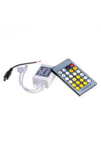 Контроллер для светодиодной ленты W+WW 6А 72 Вт, (IR 24 кнопки)