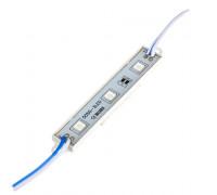 Лед модуль 12В синий 3led smd5050 0.72Вт IP65