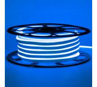 Лед неон 12В синий AVT силикон 120led/м 6Вт/м 6х12 IP65, 1м