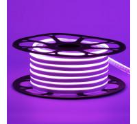 Лед неон 12В фиолетовый AVT силикон 120led/м 6Вт/м 6х12 IP65, 1м