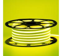 Лед неон 12В лимонный желтый AVT силикон 120led/м 6Вт/м 6х12 IP65, 1м