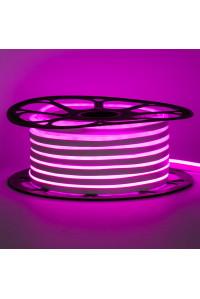 Лед неон 12В розовый smd2835 120led/м 6Вт/м 8х16 PVC IP65, 1м