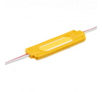 Лед модуль 12В желтый 1led COB 2Вт IP65