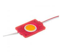 Лед модуль 12В красный 1led СОВ круглый 2,4Вт IP65