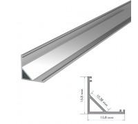 Профиль для светодиодной ленты накладной ПФ-9 полуматовый рассеиватель (комплект) 2м