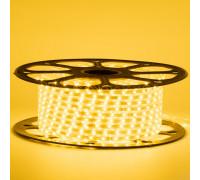 Лед лента 220В желтый smd 2835 48led/м 6Вт/м IP65, 1м
