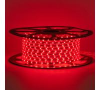 Лед лента 220В красный smd 2835 48led/м 6Вт/м IP65, 1м