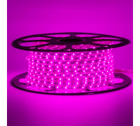 Лед лента 220В фиолетовый smd 2835 48led/м 6Вт/м IP65, 1м