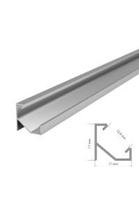 Профиль для светодиодной ленты угловой ПФ-20 рассеиватель (комплект) 2 м