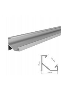 Профиль для светодиодной ленты угловой ПФ-20/1 без покрытия с полуматовым рассеивателем 2 м