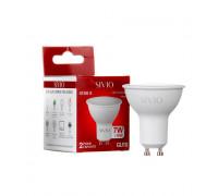 Лед лампа 7Вт Sivio нейтральная белая GU10 MR16 4100K
