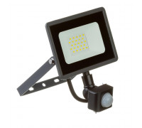 Прожектор светодиодный с датчиком движения AVT 20Вт 6000К IP65