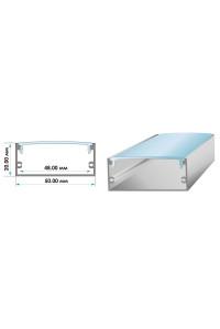 Профиль для светодиодной ленты широкий накладной ПФ-27 полуматовый рассеиватель (комплект) 2м