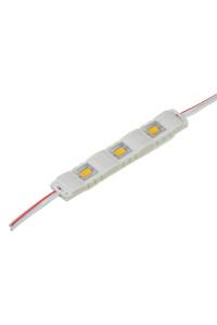 Модуль МТК 12V белый тёплый 3led smd5730 1Вт IP65