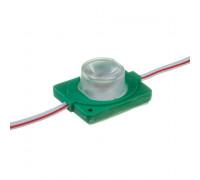 Лед модуль инжекторный 12В зеленый 1led smd3030 1.5Вт IP65