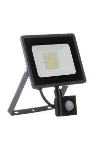 Прожектор с датчиком движения 30W белий холодный AVT-1