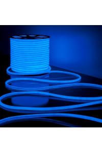 Круглая неоновая лента синяя AVT 220V smd2835 120LED/м 7Вт/м IP65